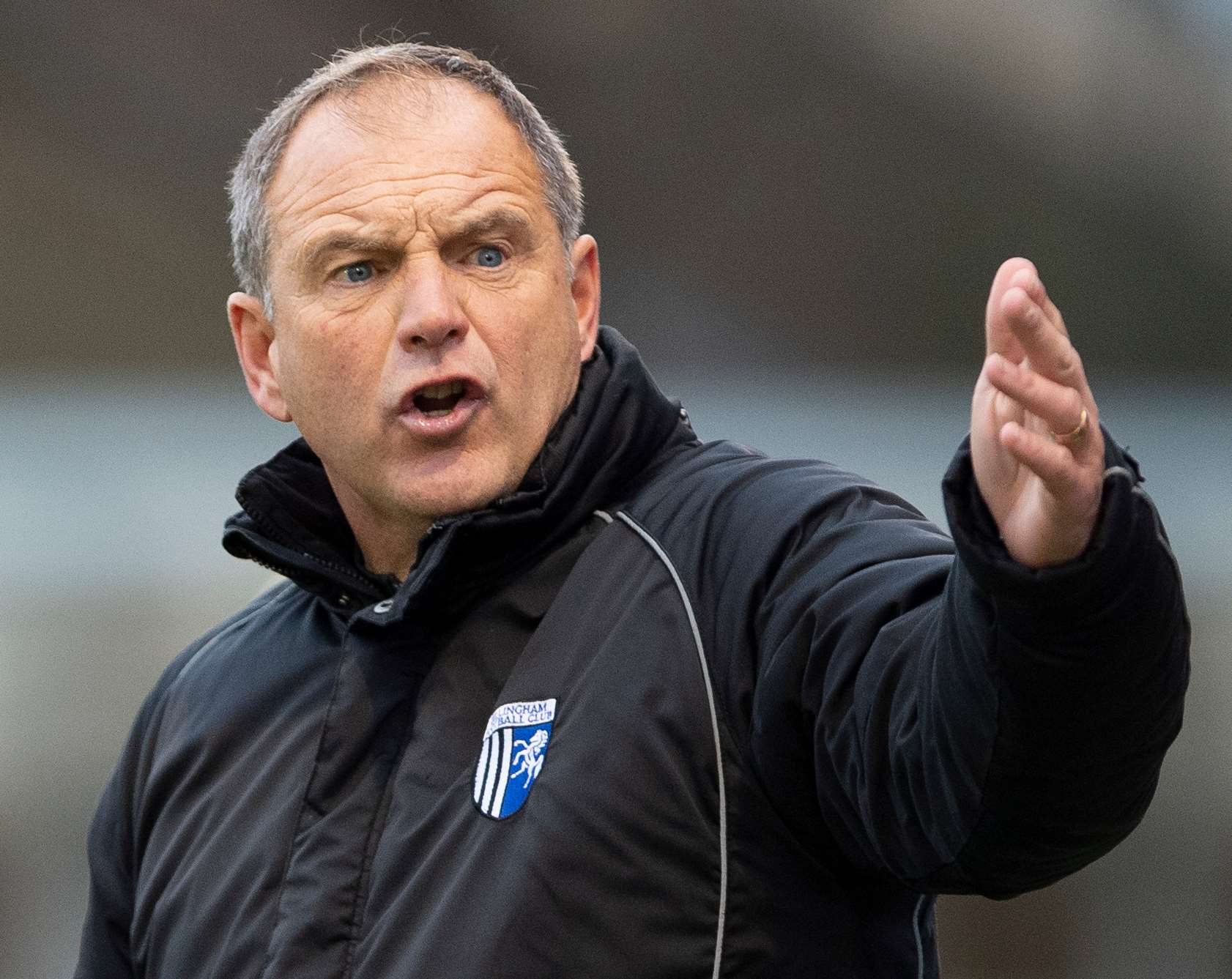 Gills boss Steve Lovell gets his point across Picture: Ady Kerry