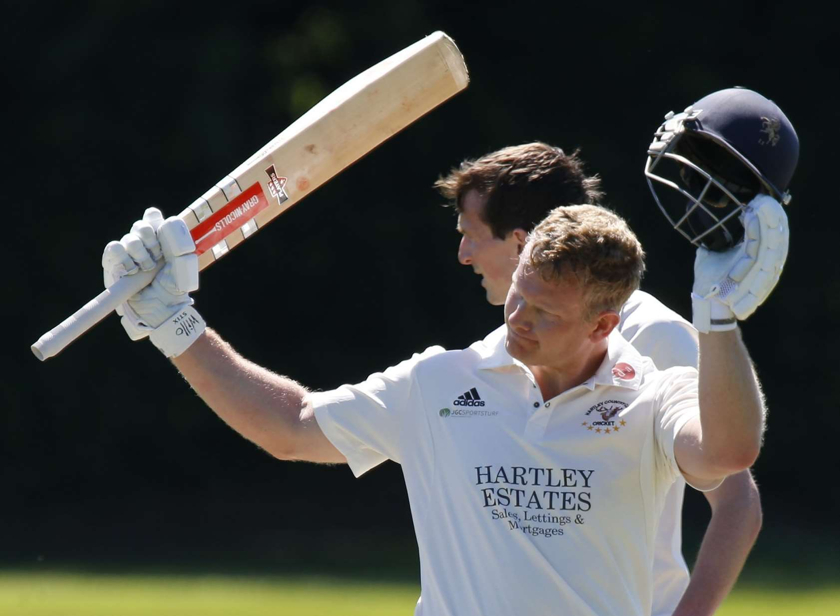 James Hockley celebrates a century for Hartley Country Club Picture: Andy Jones