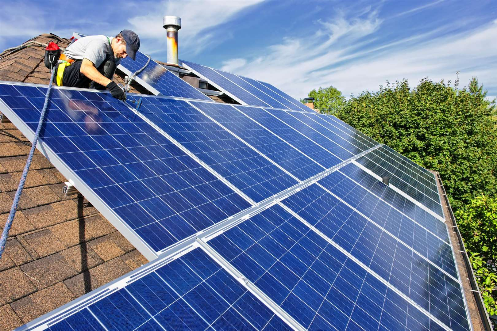 Solar panels can bring massive benefits to your home and the environment, stock picture (3778421)