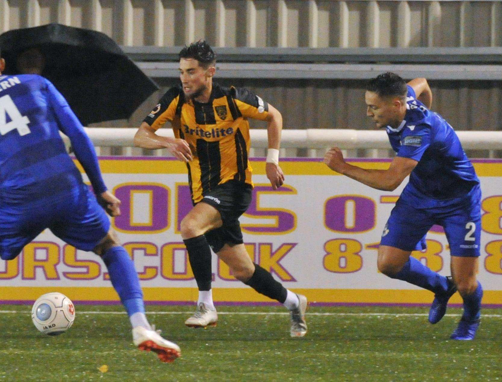 On-loan Maidstone winger Sean Shields is up for the challenge Picture: Steve Terrell