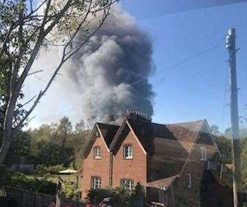 Photos of the fire taken by Mya-Jo Howlett