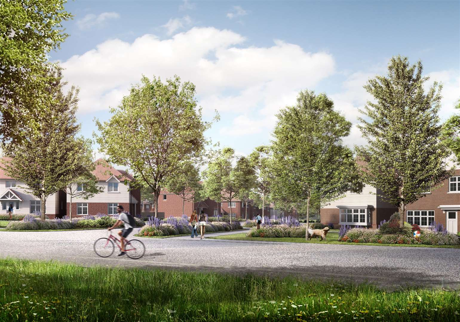 Green corridors and landscaping play a key role in the planning application according to the developers