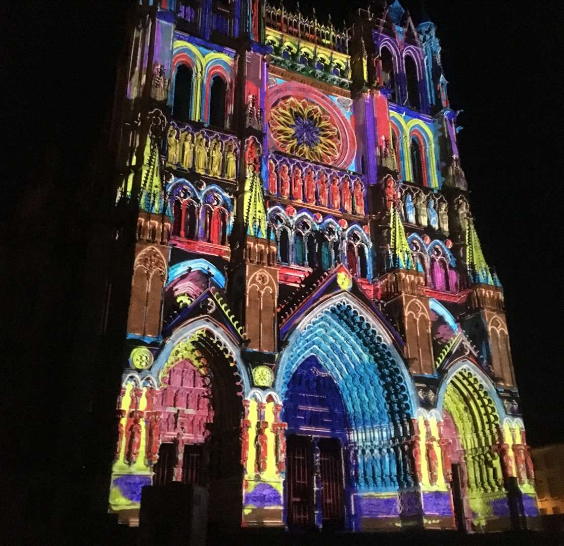 Amiens in Picardy is best known for its magnificent cathedral, with its stunning summer and Christmas light show. Photography: L.Rousselin & S.Coquille.