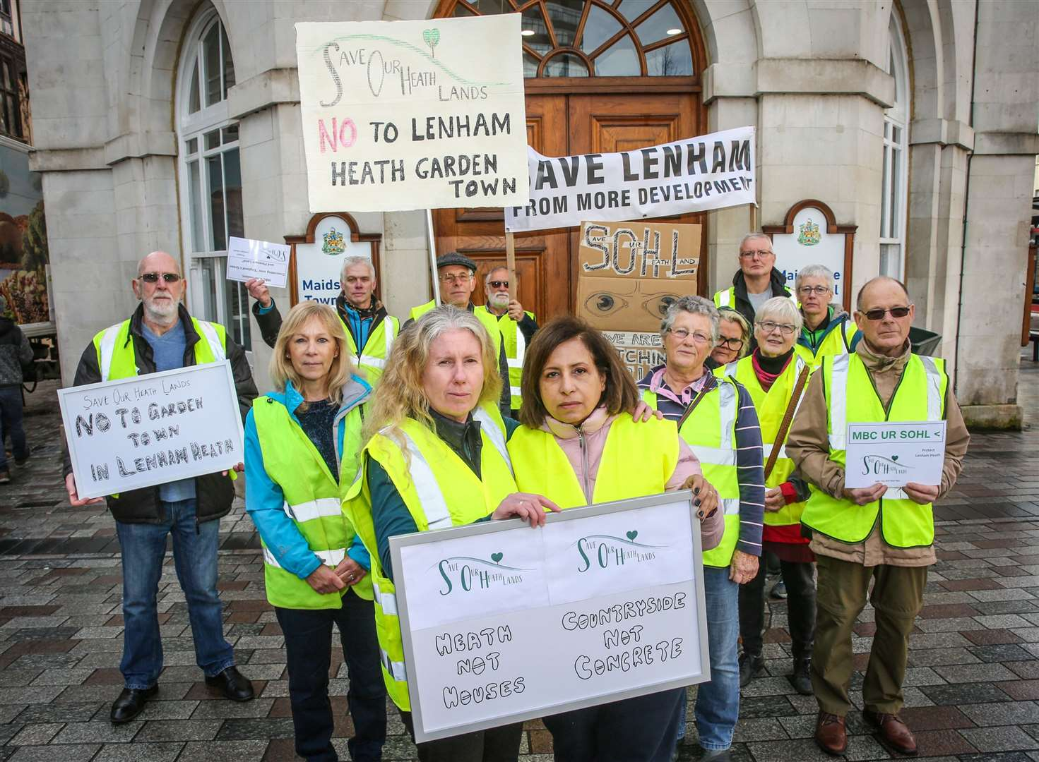 Protest march against proposals for new homes in Lenham Heath. Picture: Matthew Walker