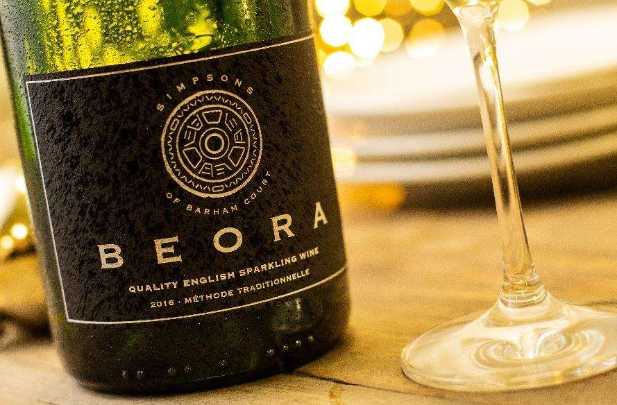 Beora English sparkling wine has been produced with Simpsons Wine Estate from Kent