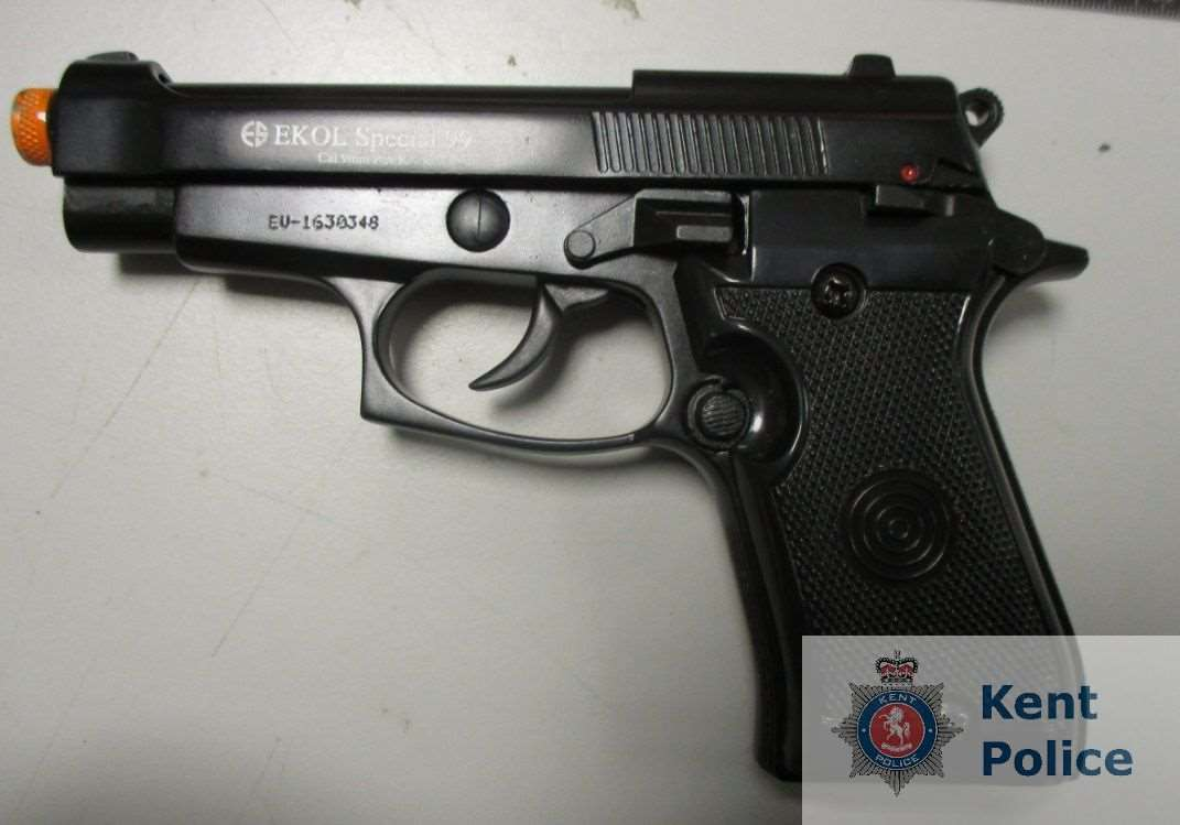 The EKOL Special 99 Blank Pistol. Pic: Kent Police