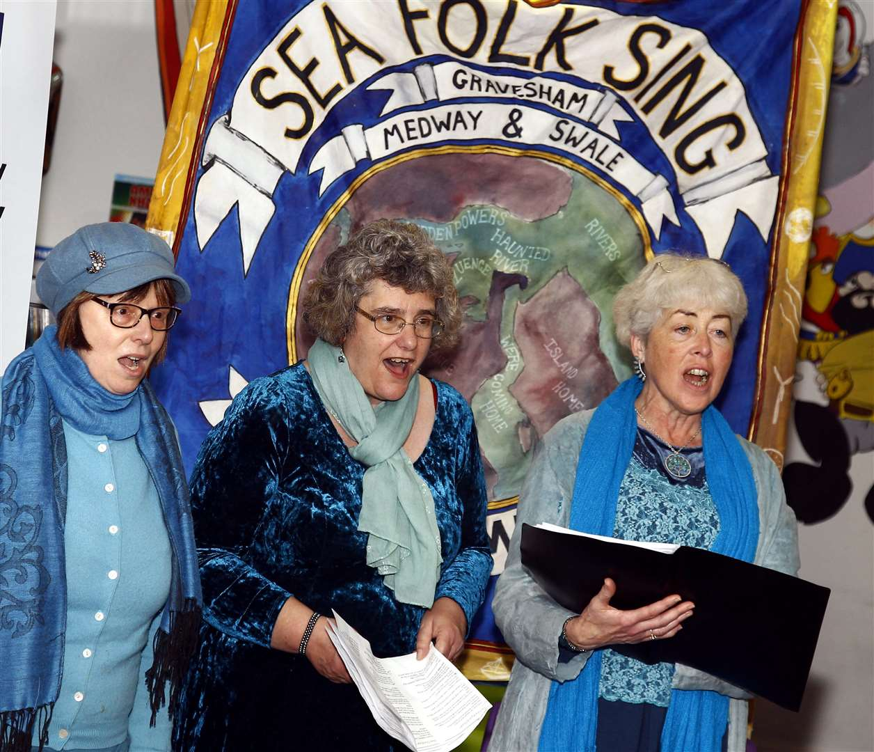 Sea Folk Sing, community choir free concert at Sheppey Gateway, Sheerness. Picture: Sean Aidan
