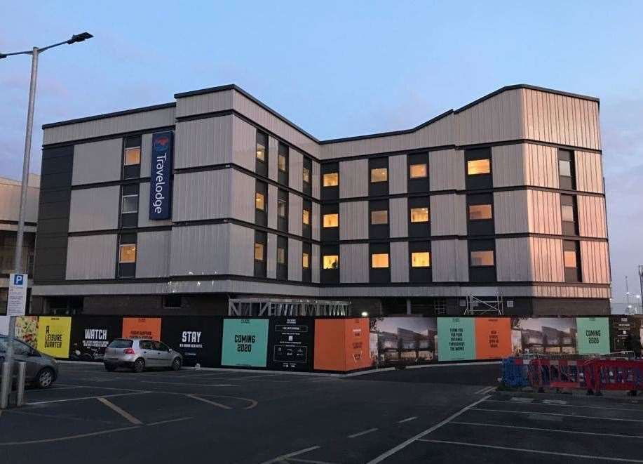 The new Travelodge in Sittingbourne is now set to open in early 2020