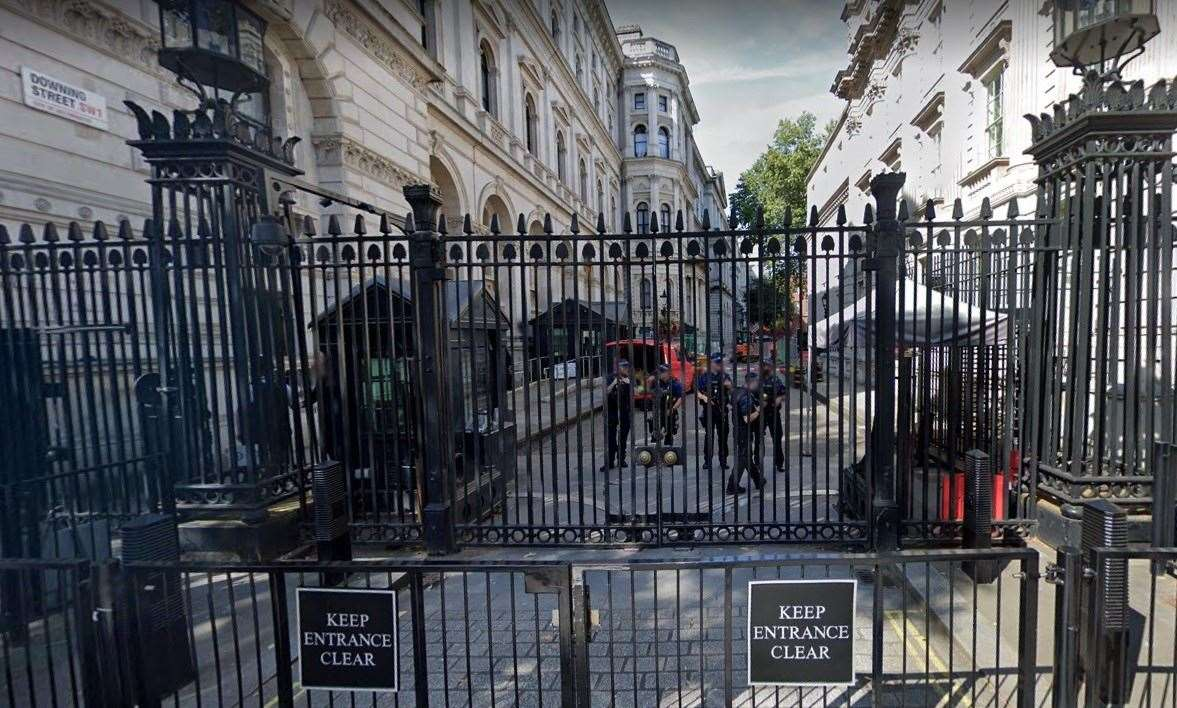 Gates of Downing Street. Picture: Google
