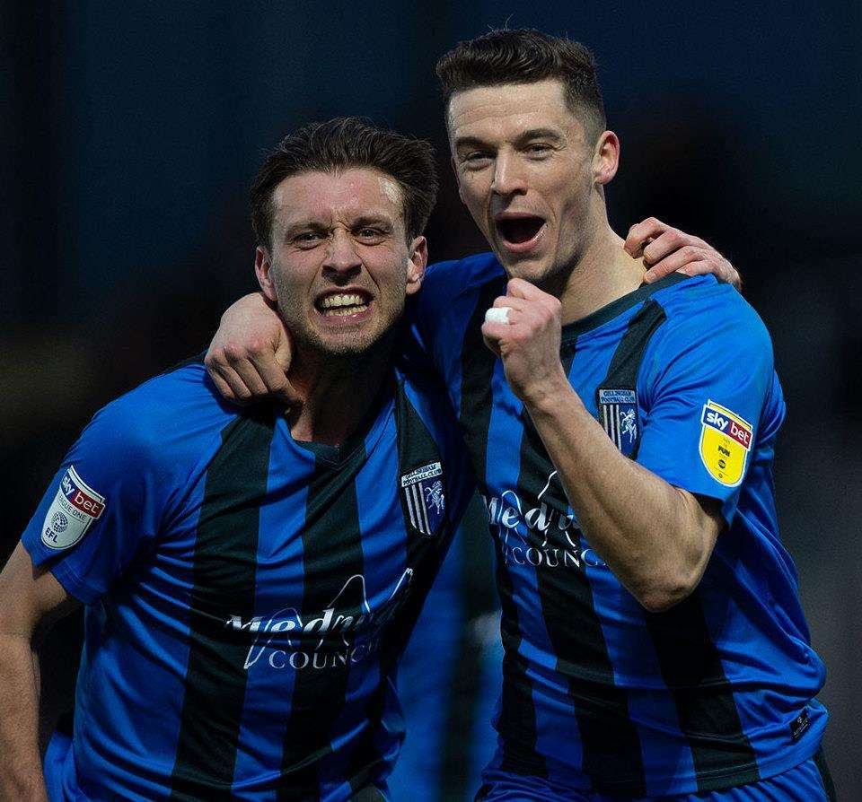 Gillingham's Callum Reilly scored from the spot Picture: Ady Kerry (6470544)