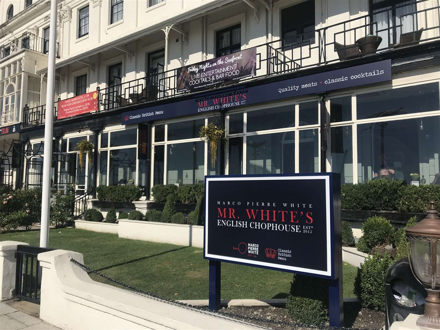 The new Mr White's English Chophouse. Picture: Best Western Plus Dover Marina Hotel