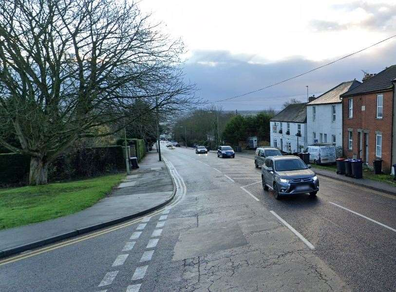 The crash happened in St Thomas Hill, Canterbury. Picture: Google Street View