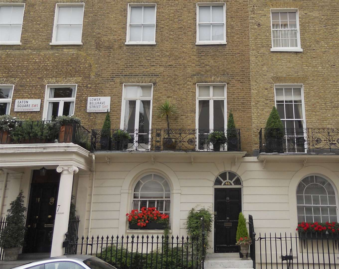 The Belgravia home where Sandra Rivett was murdered