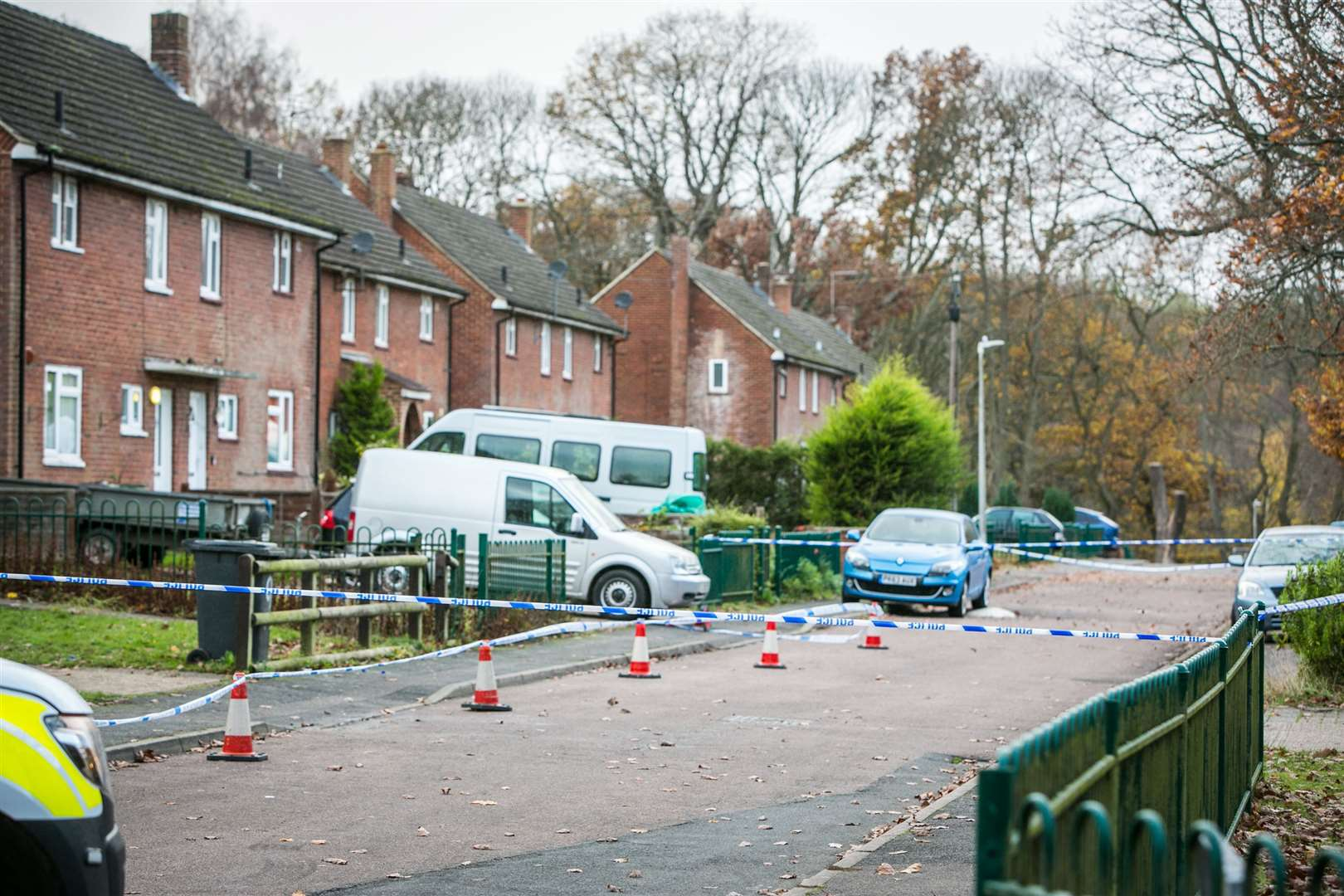 Police sealed off Spitfire Road and launched a murder investigation