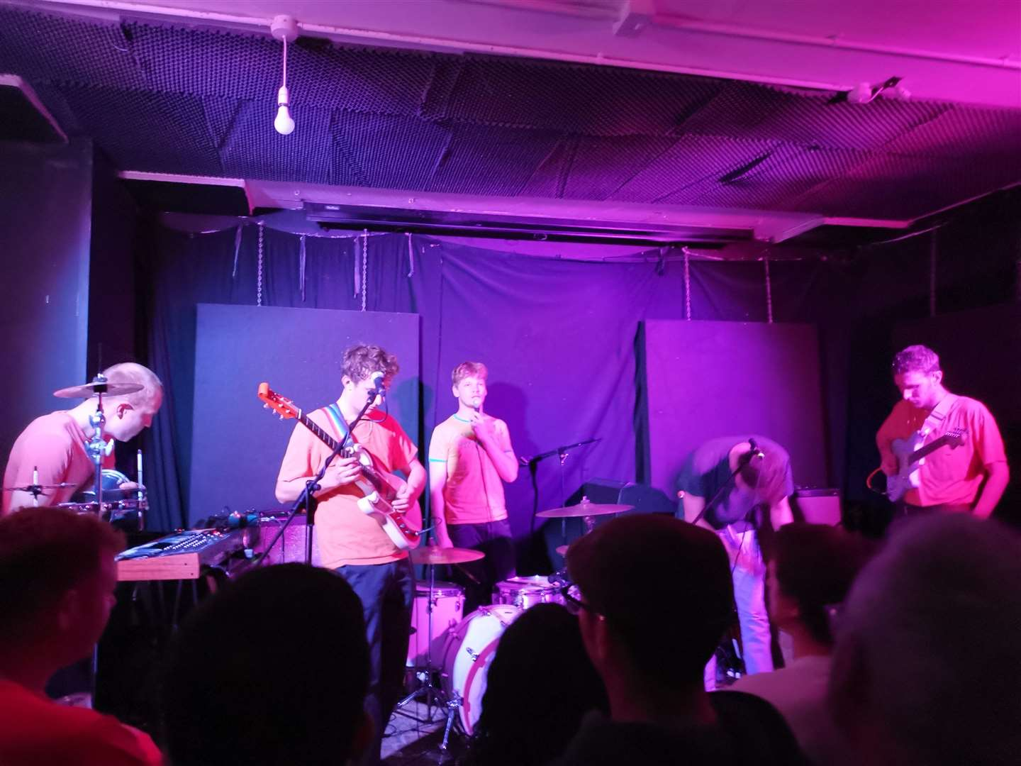 Pictured - Squid performing at Elsewhere in Margate