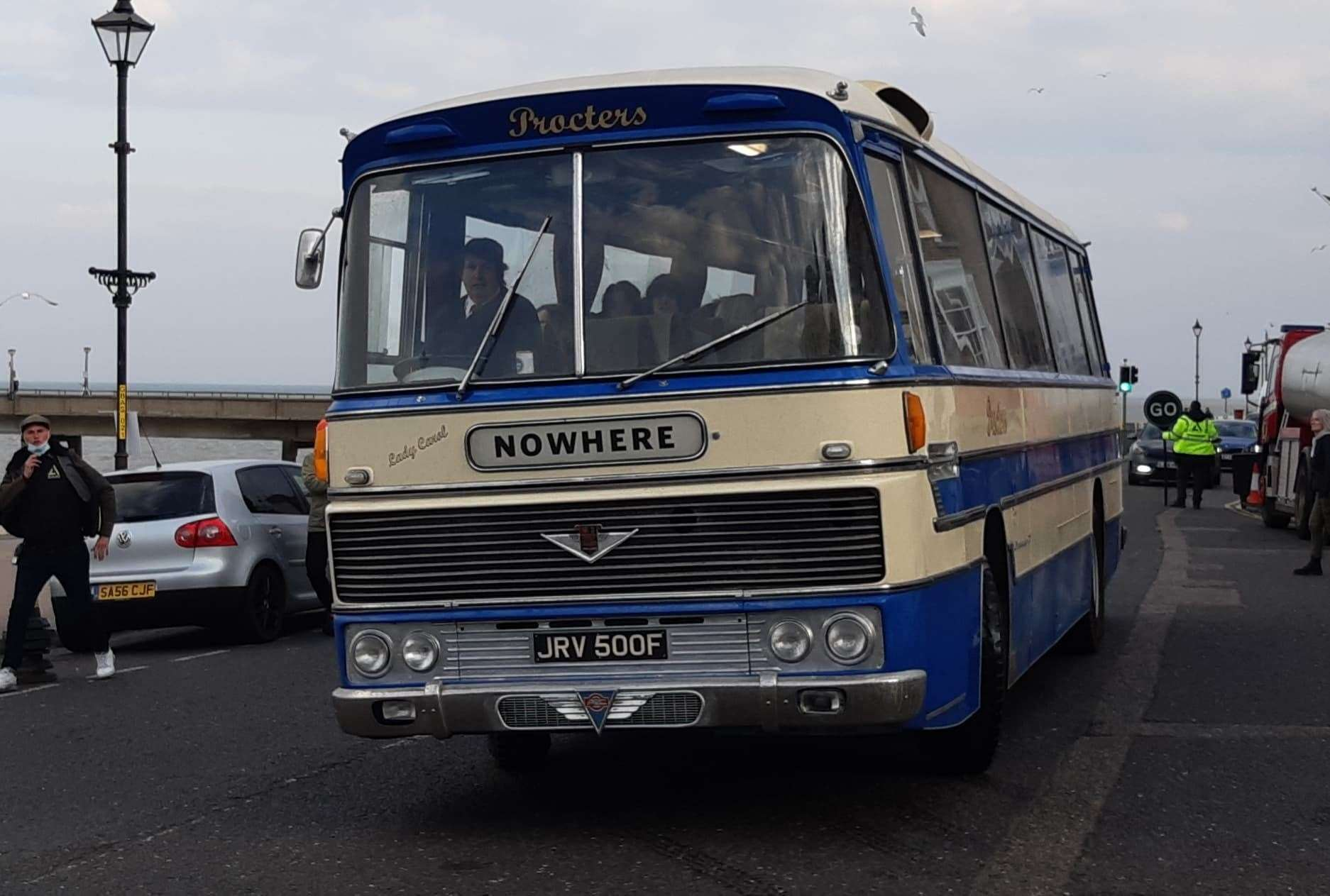 The Sex Pistols' 'Nowhere' tour bus in Deal