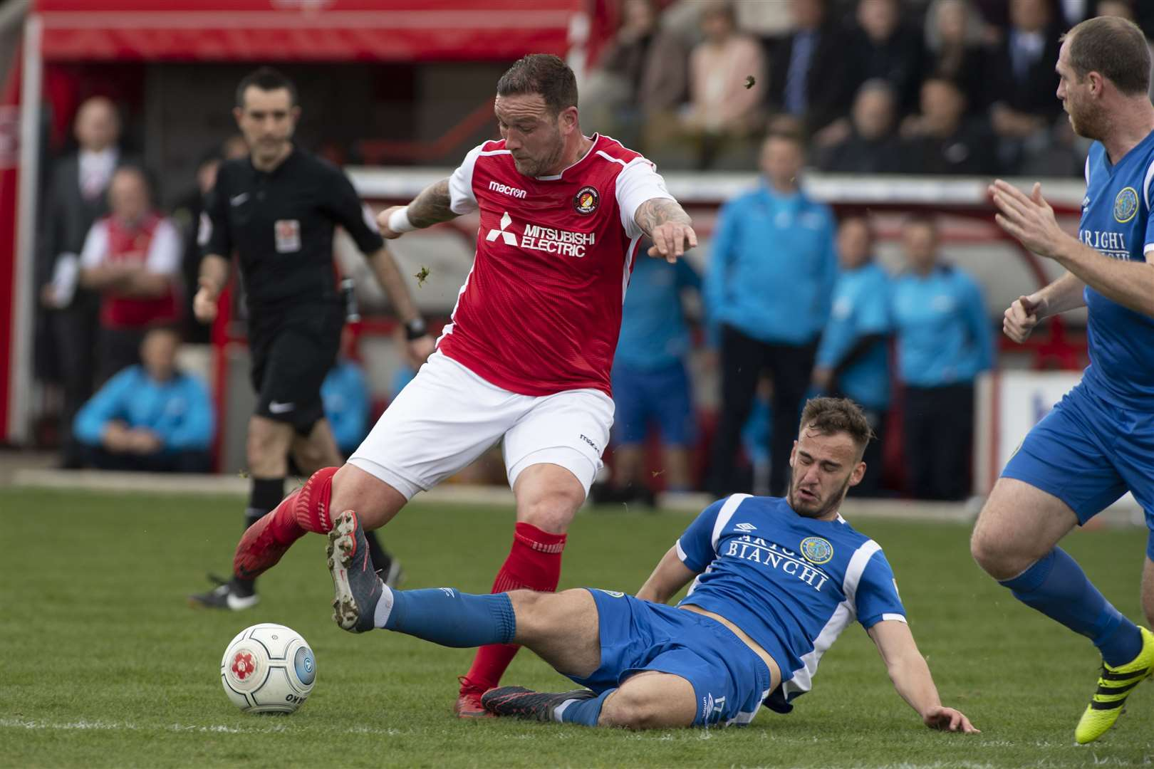 Danny Kedwell goes for goal against Macclesfield Picture: Andy Payton