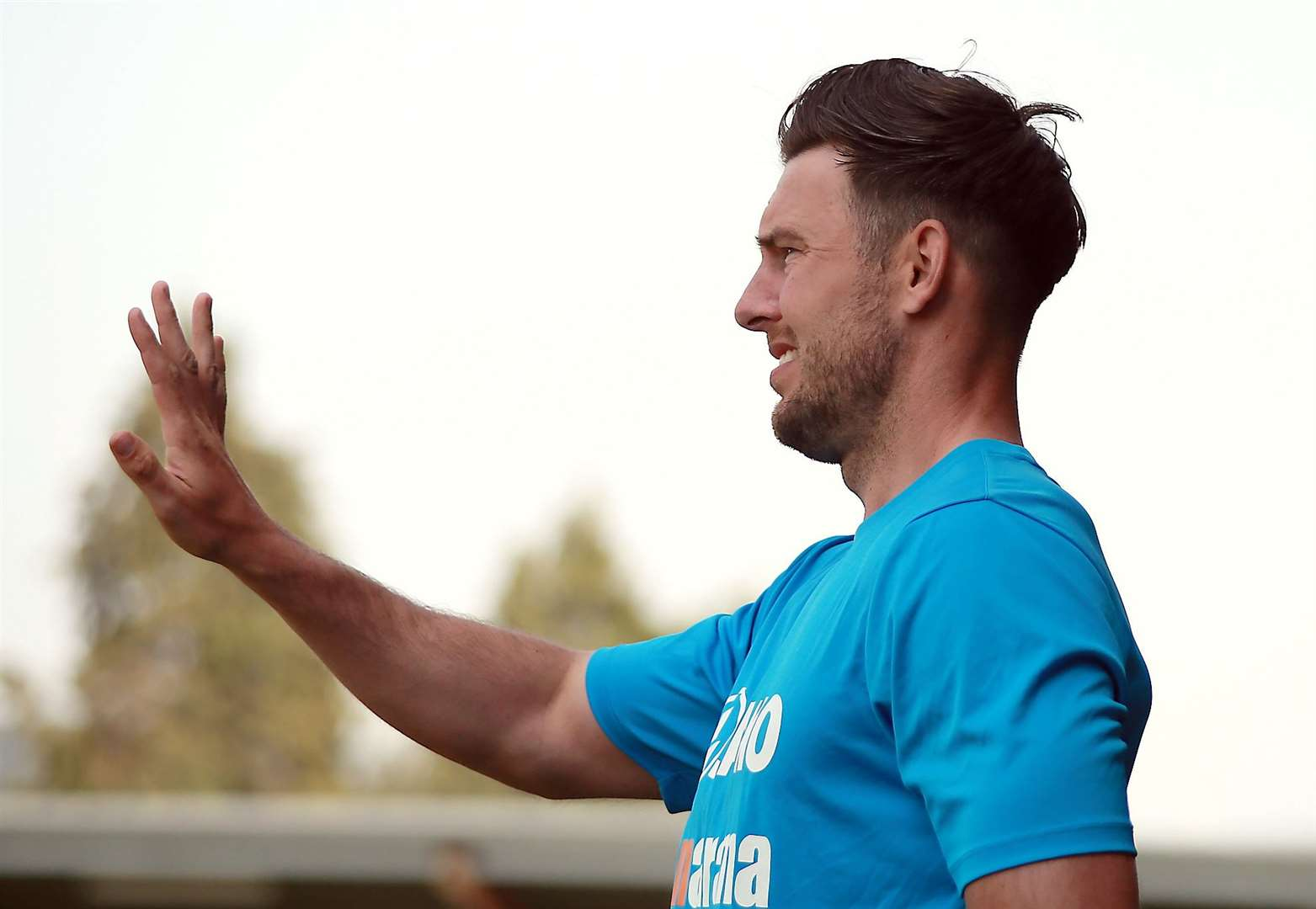 Dartford joint-manager Jamie Coyle Picture: Phil Lee