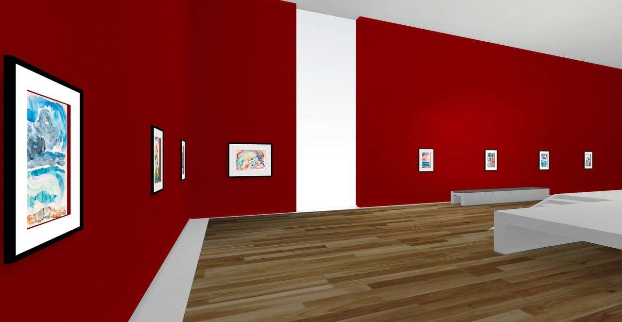 The virtual exhibition is designed to make people feel like they are walking through a gallery