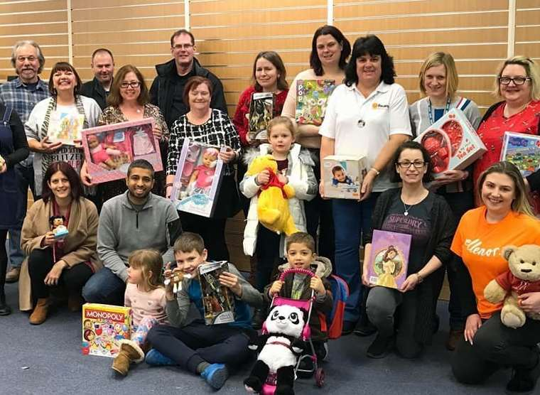 Over a thousand toys were collected for local charities at this year's Dartford Toy Appeal.