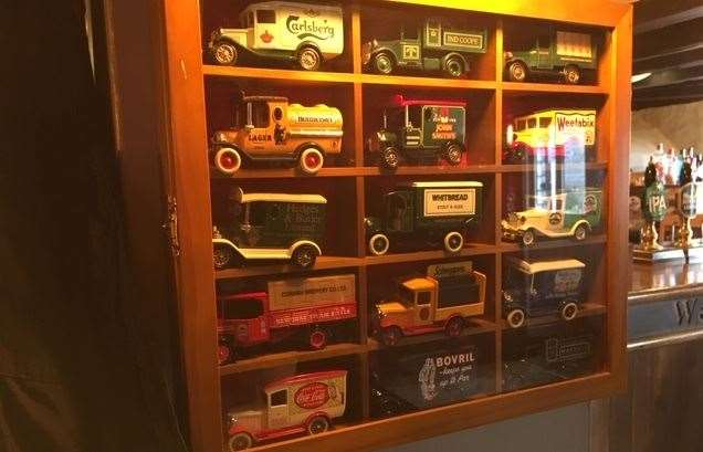 Some of the little touches make a real difference at the Cock – I particularly liked the display of Dinky toys