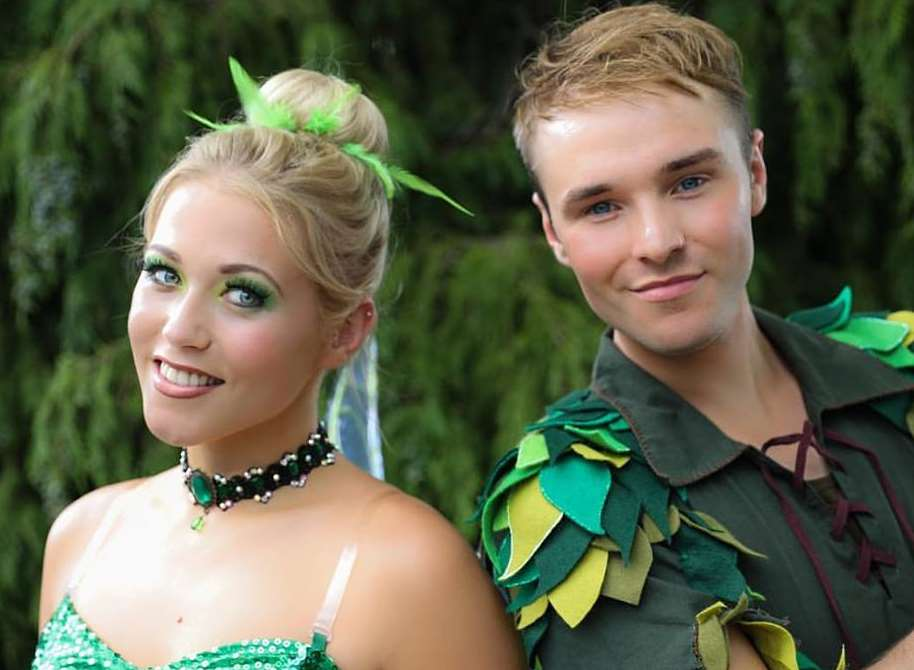 Magic: X Factor singer Amelia Lily, who finished behind Little Mix, plays Tinkerbell the fiery fairy with X Factor 2010 finalist Lloyd Daniels in the title role of Peter Pan at the Maidstone Studios