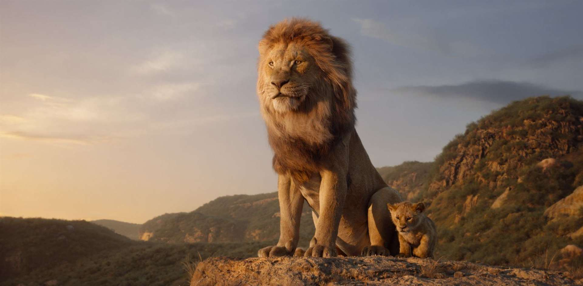 Mufasa (voiced by James Earl Jones) and young Simba (JD McCrary) Picture: Disney Enterprises, Inc