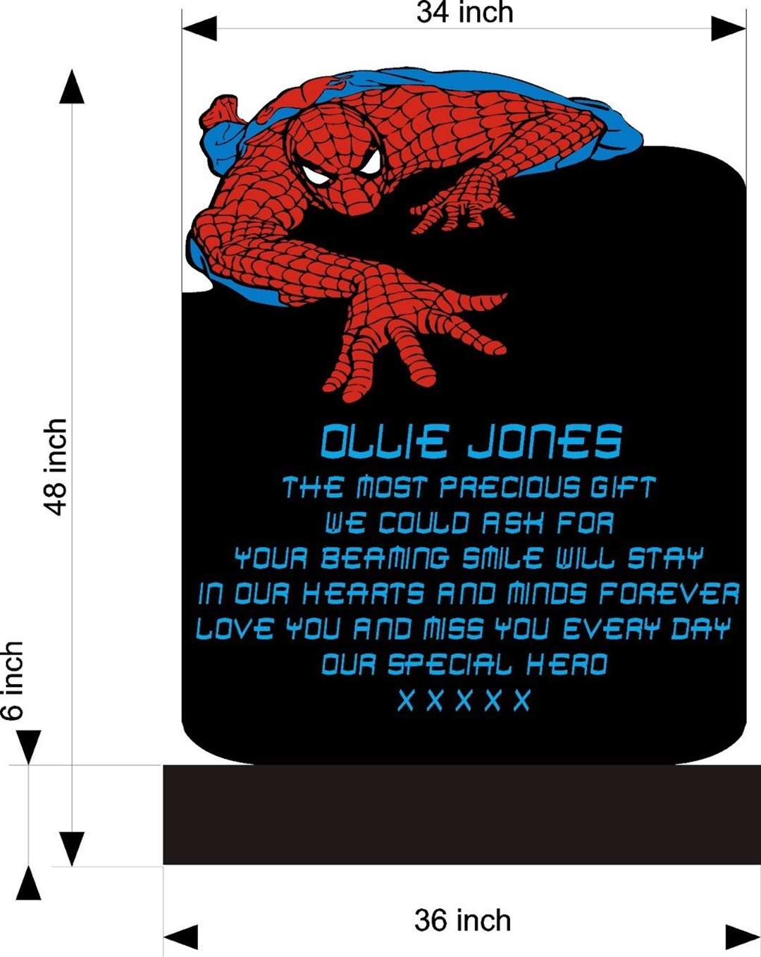 An early design of Ollie Jones' Spider-Man headstone (12956541)