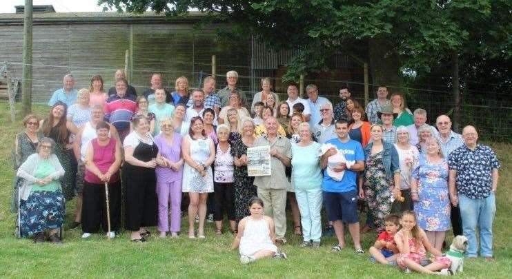 Family gathering to mark the couple's diamond wedding anniversary