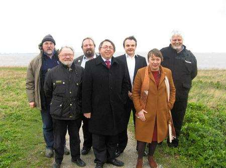 Shadow Transport Minister Maria Eagle on a visit to the Isle of Grain.