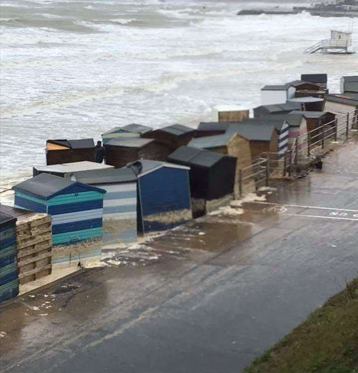 The huts were affected by the downpours. Picture: Ryan Hosking
