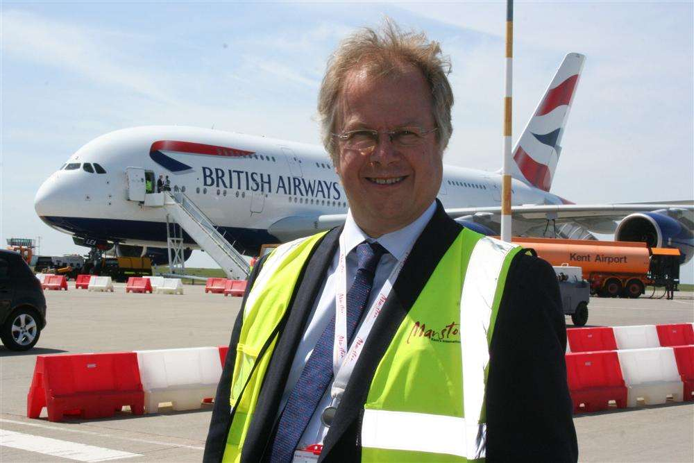 Charles Buchanan when he was Manston airport chief executive