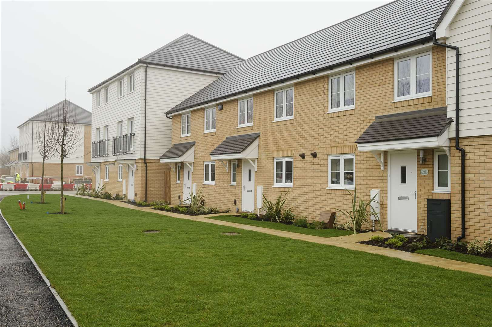 Bovis Homes' Orchard Fields development - one of the many along Hermitage Lane