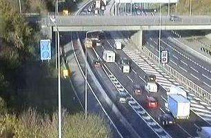 The delays on the M20. Picture: Highways England