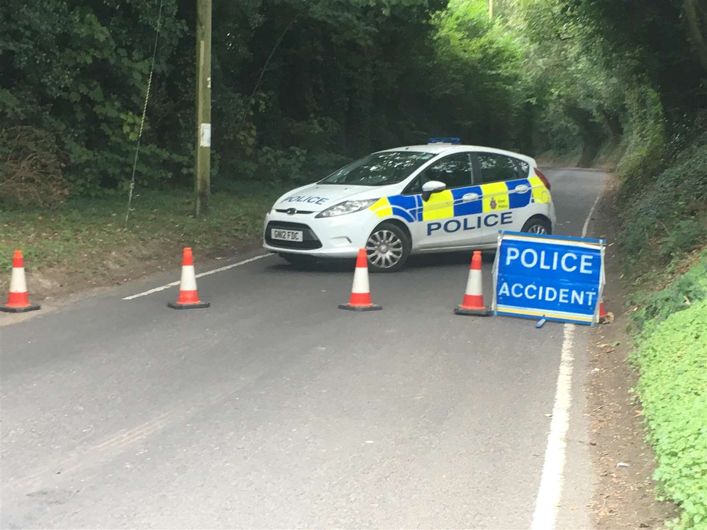 The scene of the crash remains cordoned off
