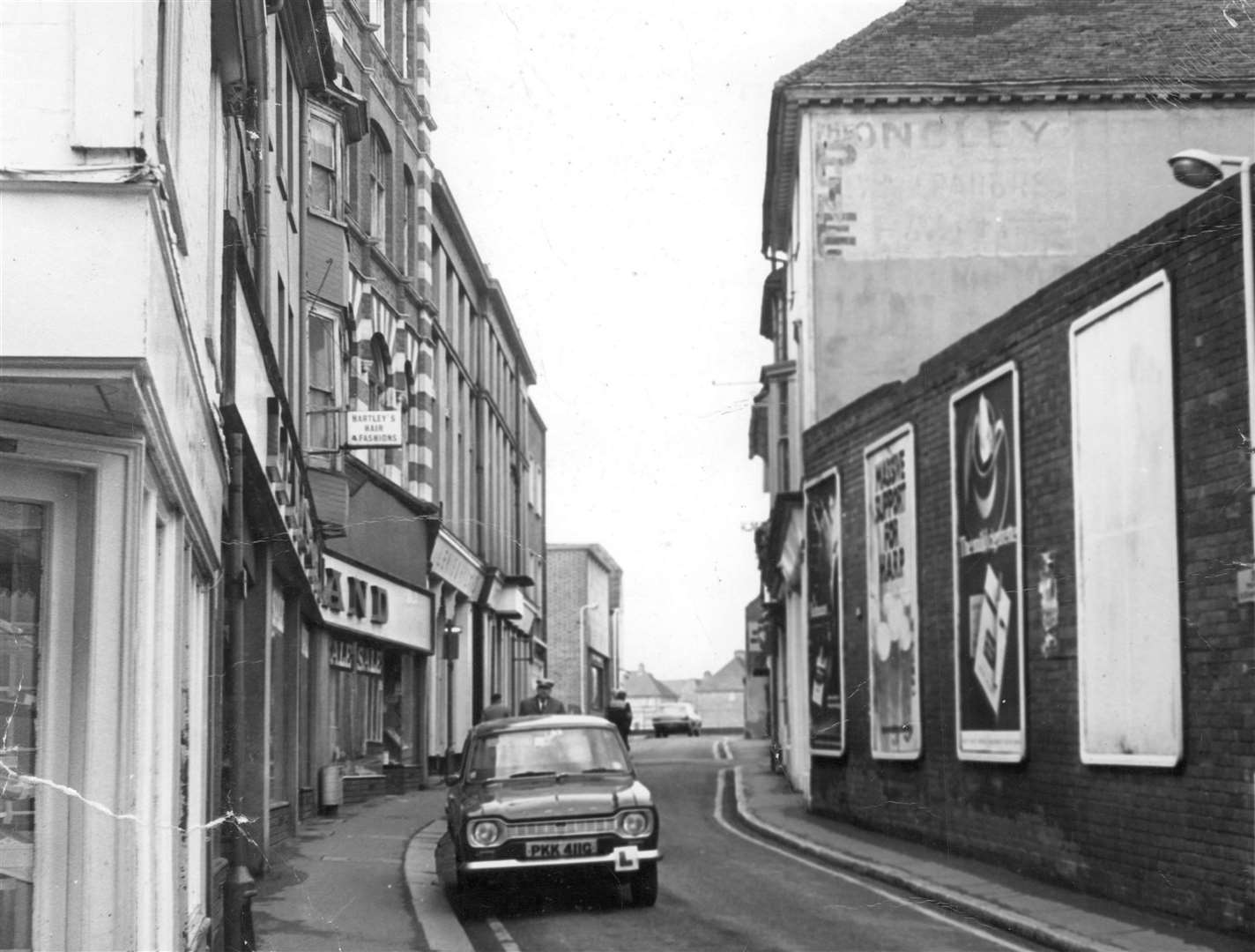 New Rents, 1972. A sentimental view showing New Rents 42 years ago, when the street was still dominated by much-missed department store Lewis and Hyland. H.J Davis the Pork butcher can be seen further along on the left with the one-time premise of the Central Pie Shop on the right. Forge Lane heading towards Gravel Walk can be seen in the distance. The junction of Hempsted Street is on the immediate left. Picture: Steve Salter