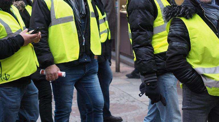 Six people were arrested at the 'yellow vest' march. Stock picture