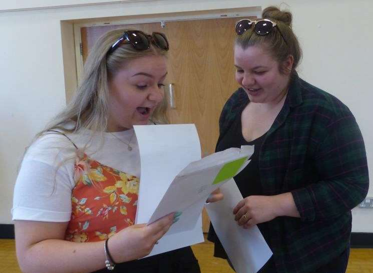 Delighted Highsted Grammar pupils open their results