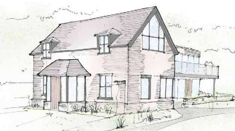 A sketch of the new guest house as submitted for pre-application advice to Ashford Borough Council in 2019