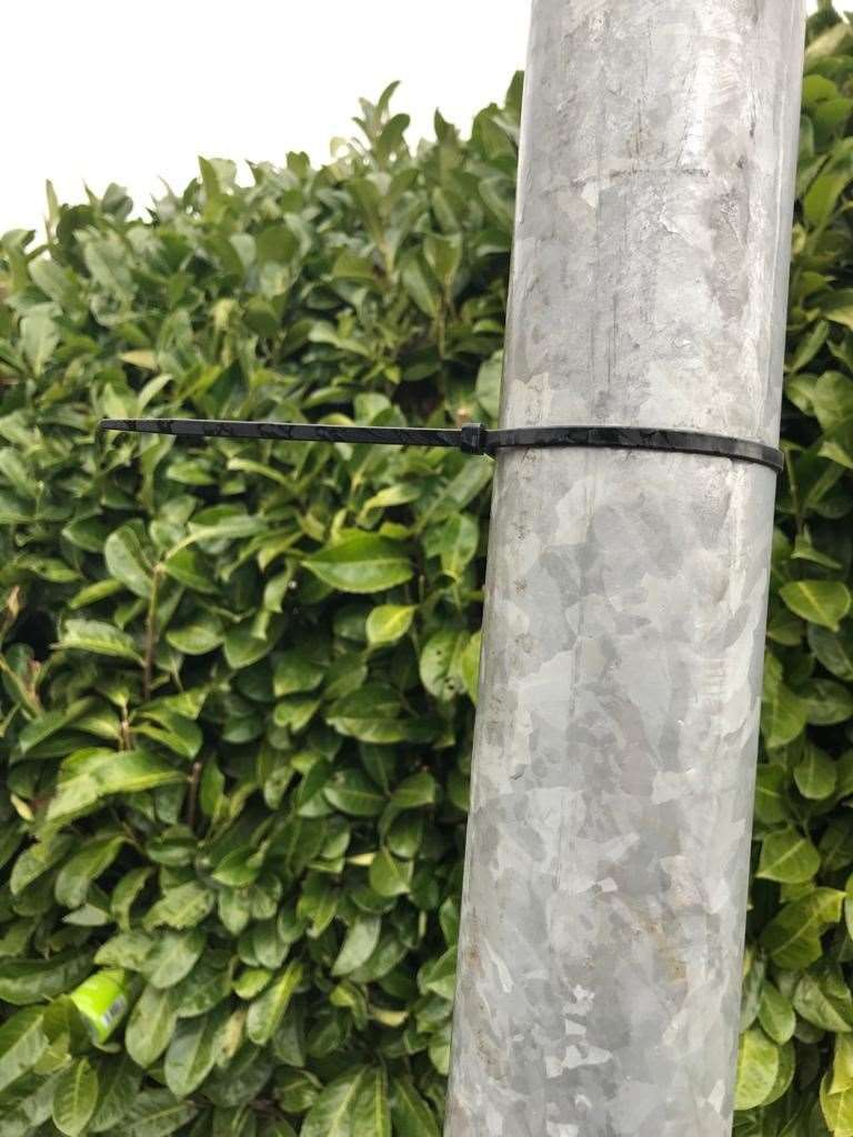 Cable Ties have been spotted in Medway, possibly planted by dog thieves