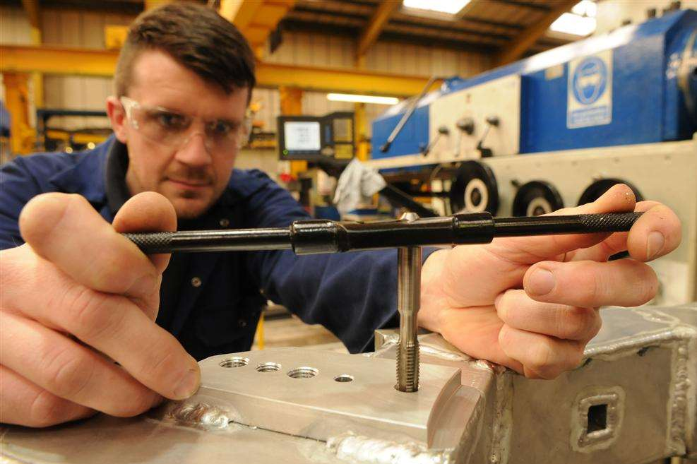Darren Sweeting, of MKE Engineering in Sittingbourne, has used his apprenticeship to study for a degree
