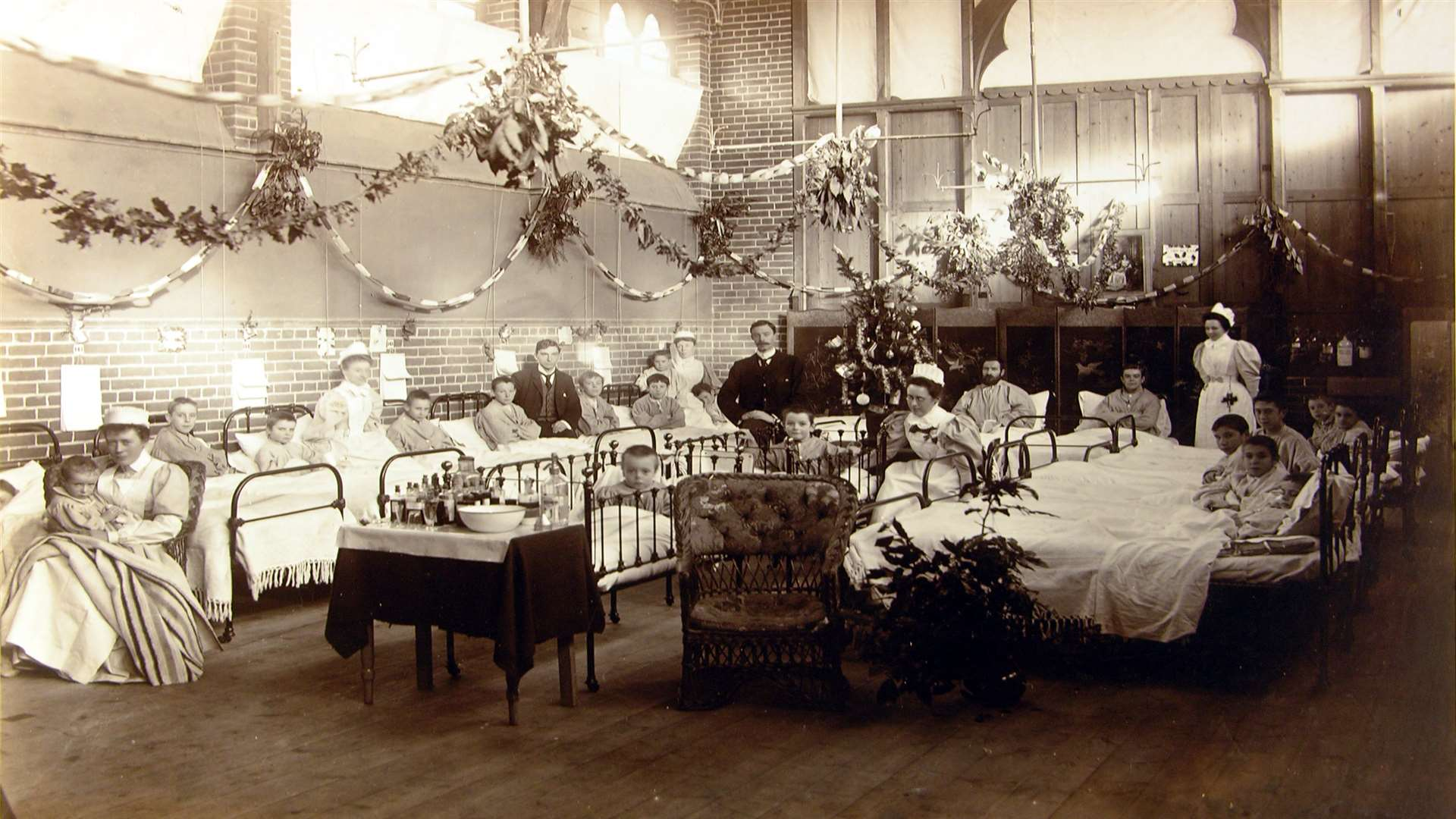 A hospital ward at the time of the outbreak. Photo:Maidstone Museum