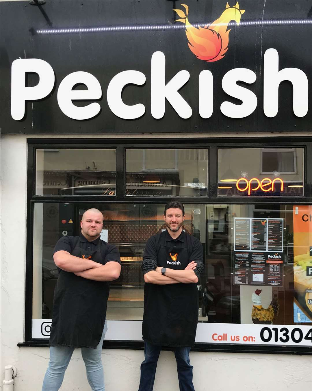Head chef Mike Cox and chef Ben Holmes-Brown at Peckish