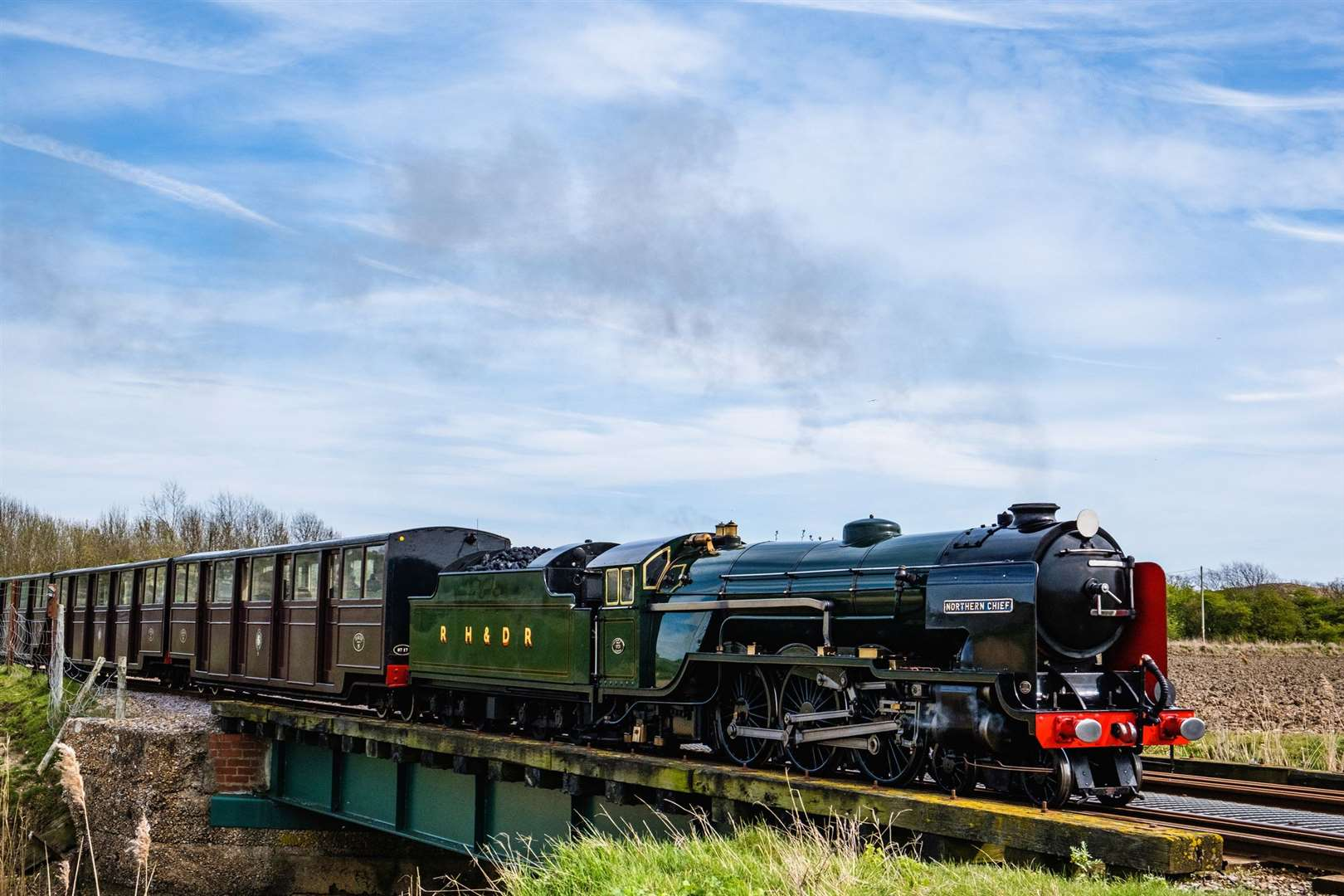 The railway has been operating for over 90 years and has a large fleet of one third size steam and diesel locomotives