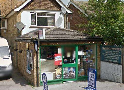 Kingsgate Newsagents. Picture: Google