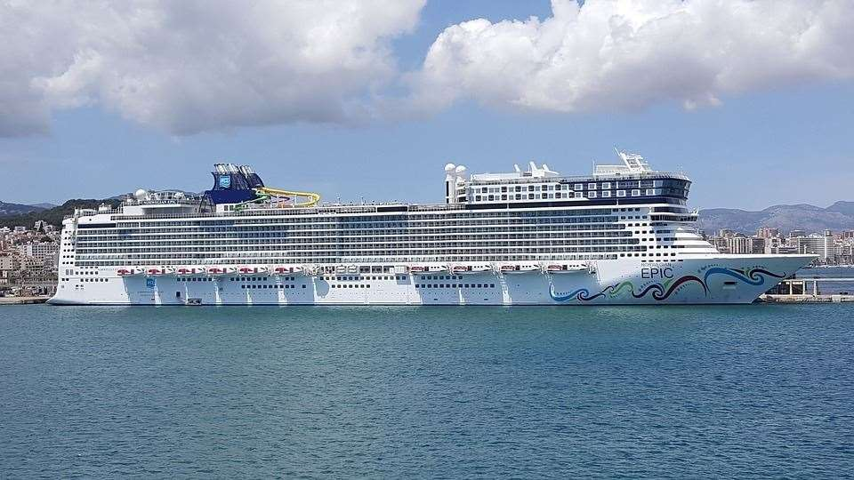 A 63-year-old woman fell from the cruise liner on Saturday (12069704)