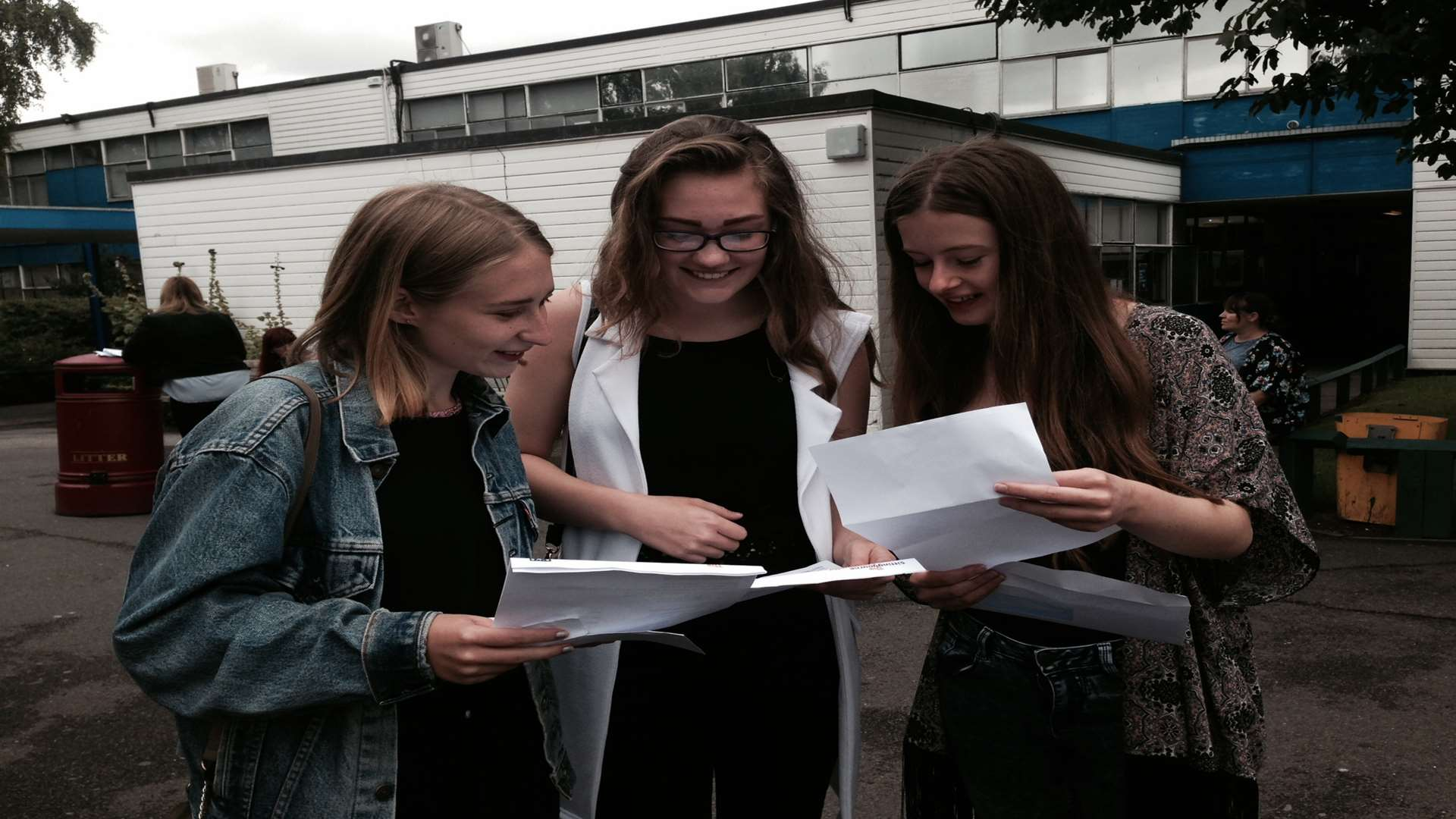 Alix Bromley Pics sittingbourne pupils receive their gcse results