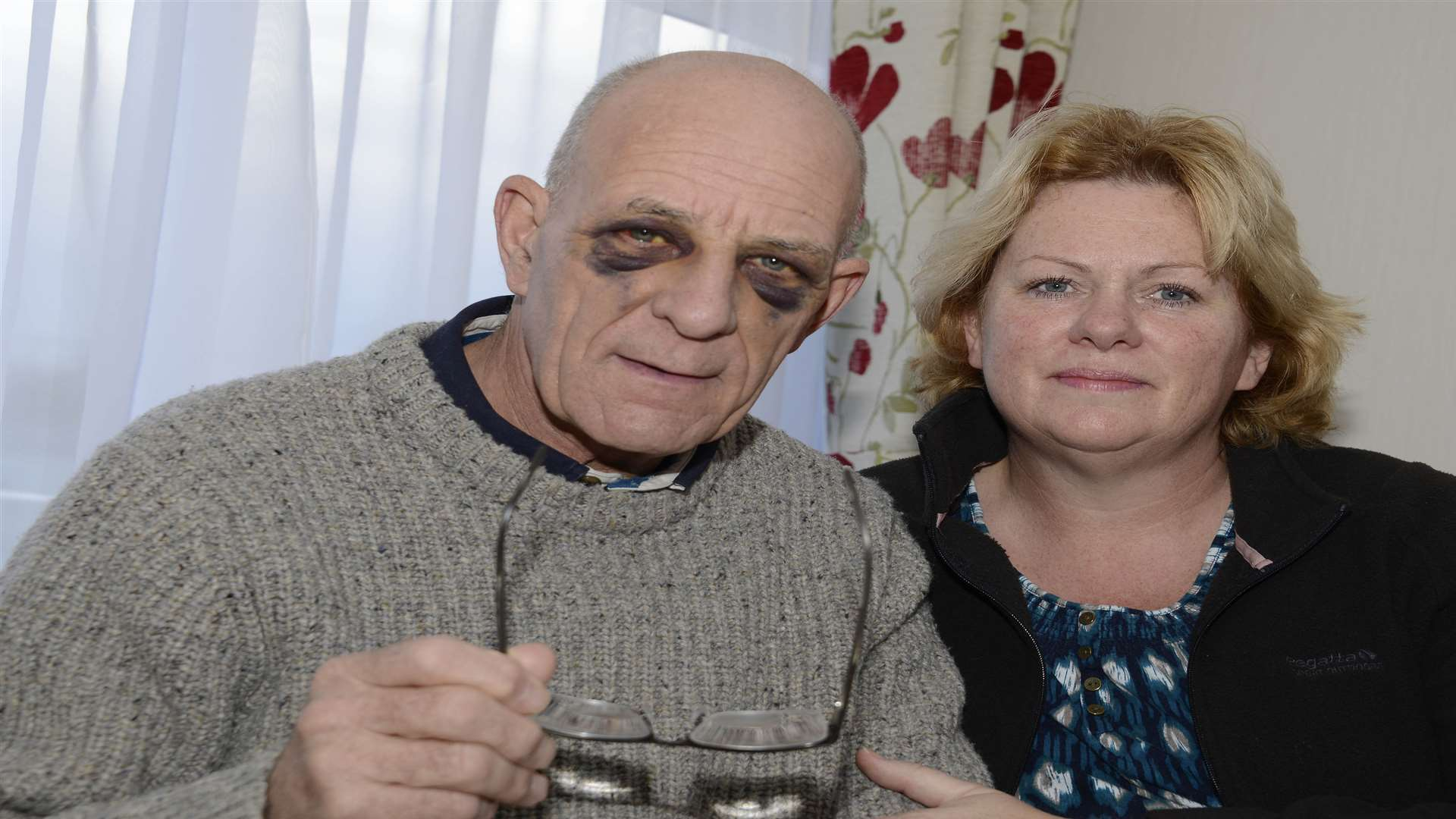 Jim Tedder who fell on the Dymchurch steps with wife Julie Picture: Paul Amos
