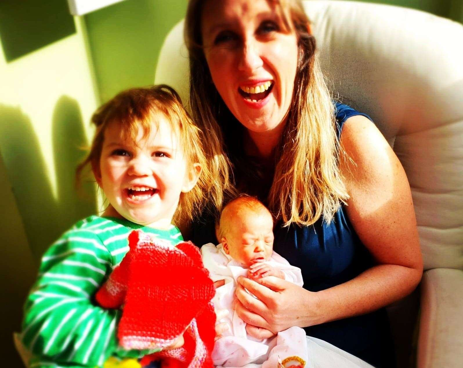 Imogen with Bea and daughter Xanthe. Picture: Imogen Tinkler