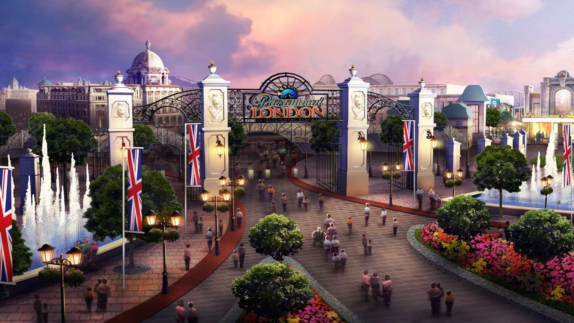 An artist's impression of plans for the London Paramount entertainment resort